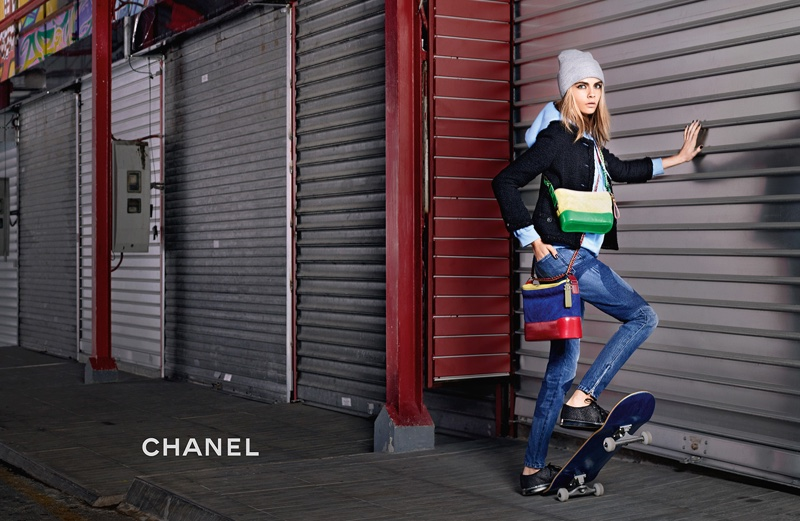 Cara Delevingne goes tomboy chic for the Chanel Gabrielle Campaign
