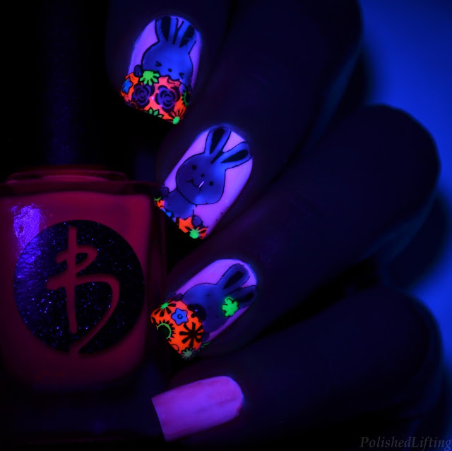 uv reactive nail art