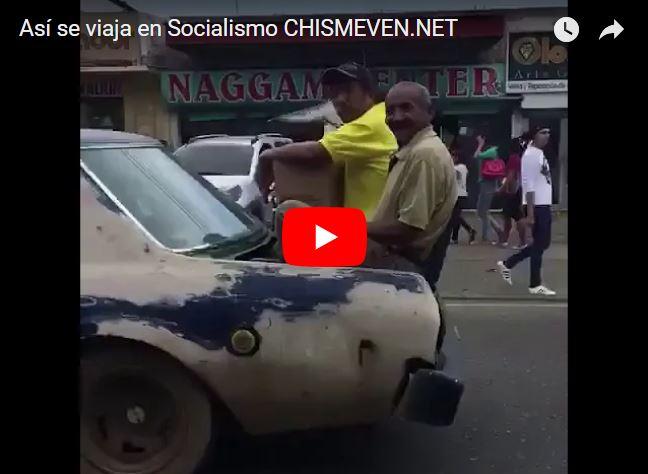 Así es como las personas se transportan en el socialismo venezolano