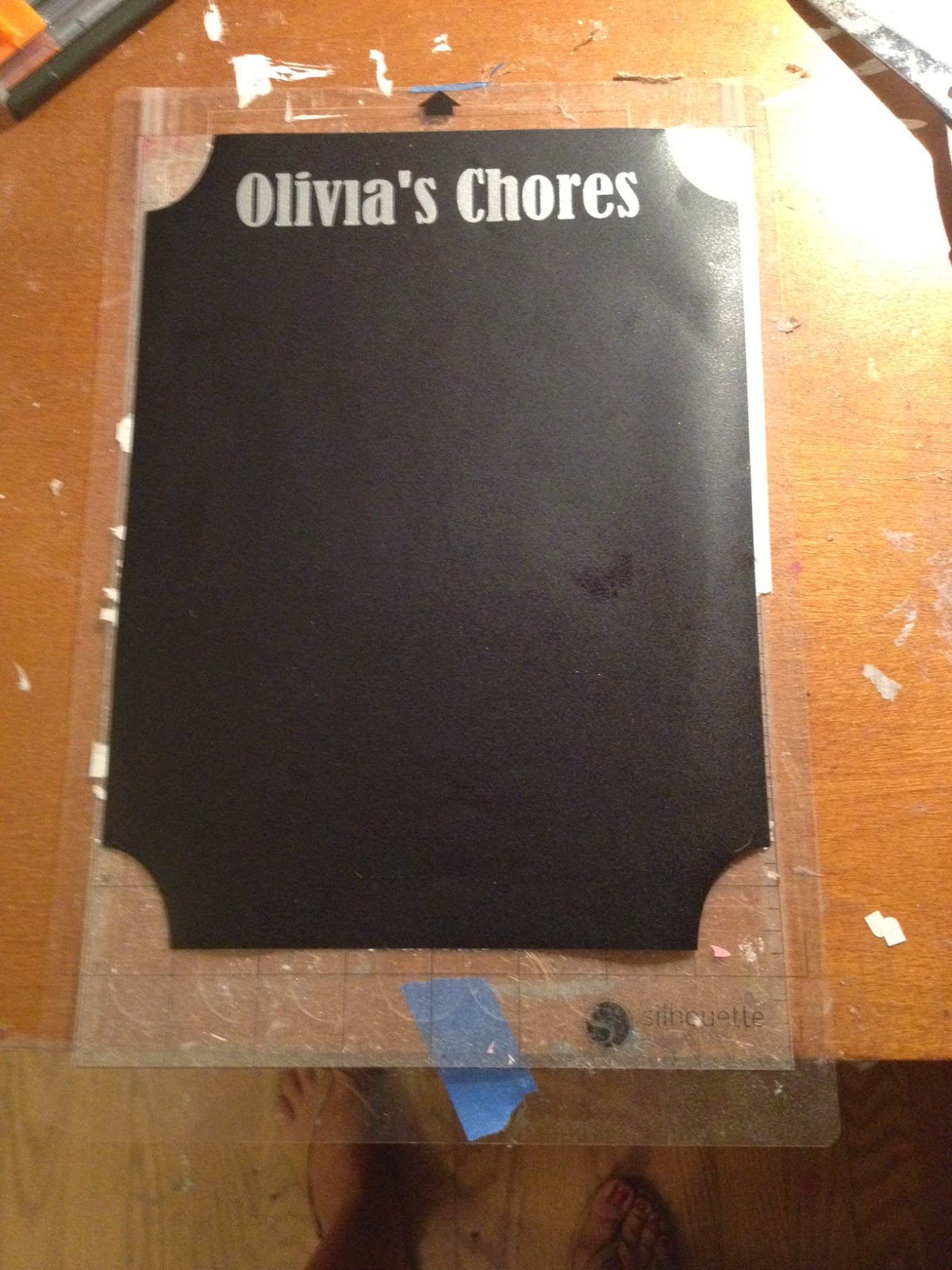 Chalkboard, vinyl, chore chart, Silhouette, Silhouette Studio, free cut file