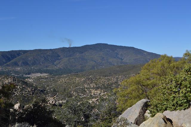 Thomas Mountain with a wisp of smoke