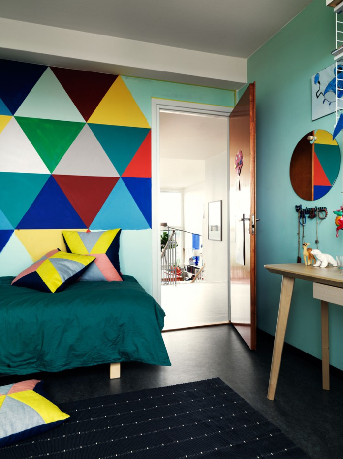 Colorful and Whimsical Bedroom-Jonas Ingerstedt Interiors Photography