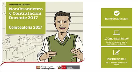 Convocatoria 2017 al concurso de nombramiento y for Convocatoria para concurso docente 2016