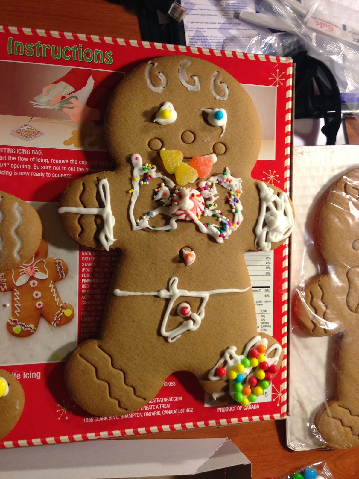 gingerbread man, new years eve