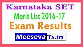 Karnataka SET Exam Results / Merit List 2016-17