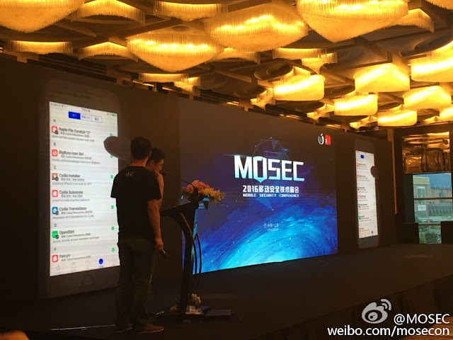 Pangu Team Demos iOS 10 Jailbreak in Shangai