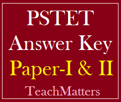 image : PSTET Answer Key 2016 @ TeachMatters