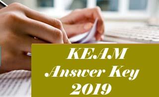 KEAM 2019 Answer Key, KEAM 2019 Key