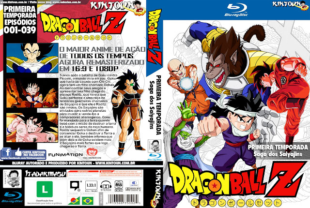Capa Bluray Dragon Ball Z D1 A D5 Primeira Temporada Completa