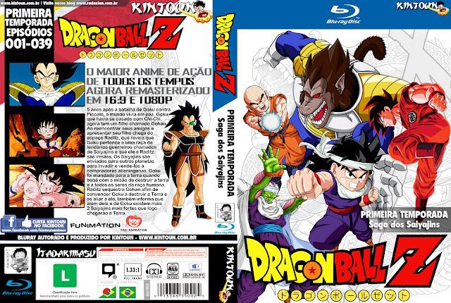 Capa Bluray Dragon Ball Z D1 A D5 Primeira Temporada Completa