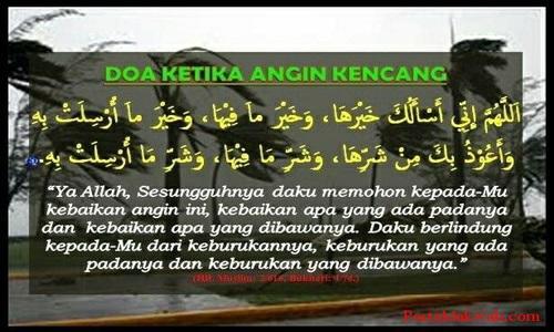 Bacaan Doa Disaat Angin Kencang Lengkap Sesuai Sunnah