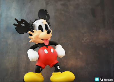 """Deconstructed Mouse"" Disney Mickey Mouse Vinyl Figure by Matt Gondek x ToyQube"