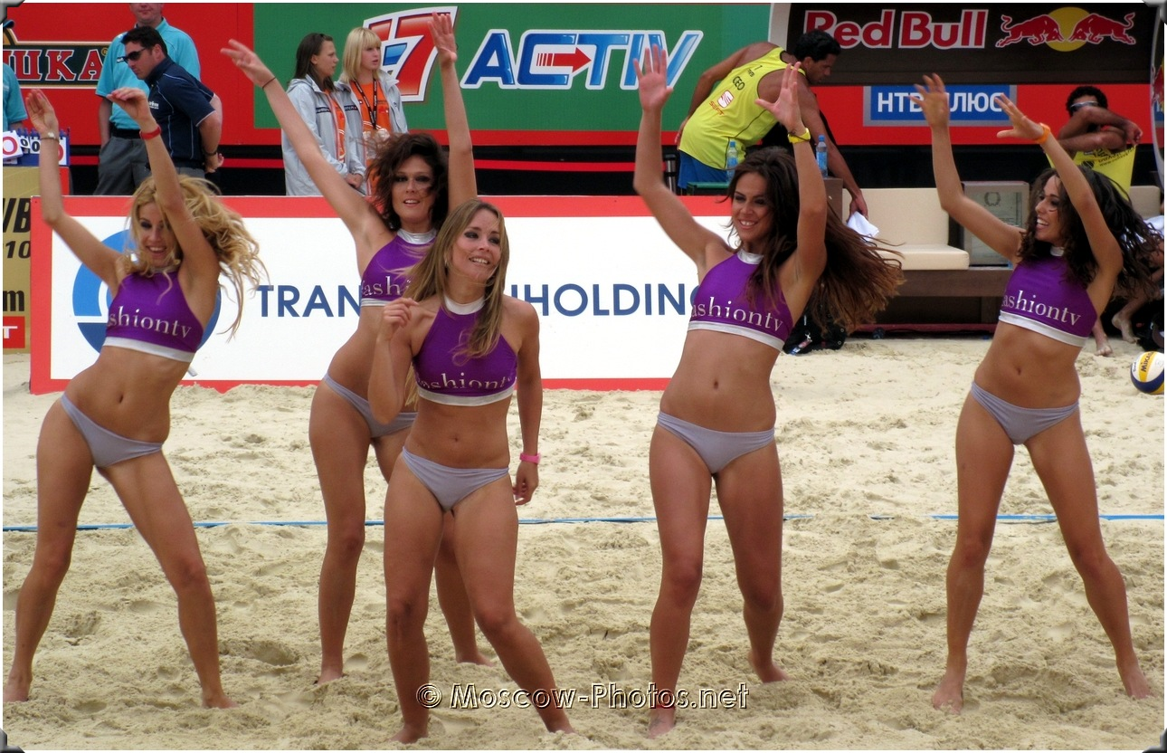 Beach Volleyball Dancing Fashion TV Bikini Cheerleaders