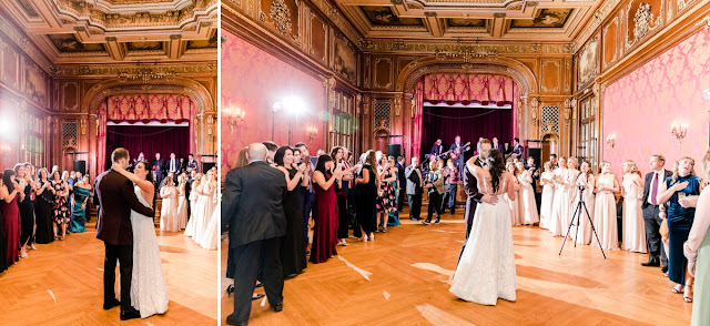 Engineers Club of Baltimore Winter Wedding photographed by Heather Ryan Photography
