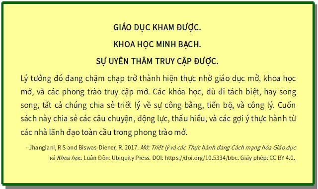 'Mở - Triết lý và các thực hành đang cách mạng hóa giáo dục và khoa học' - bản dịch sang tiếng Việt
