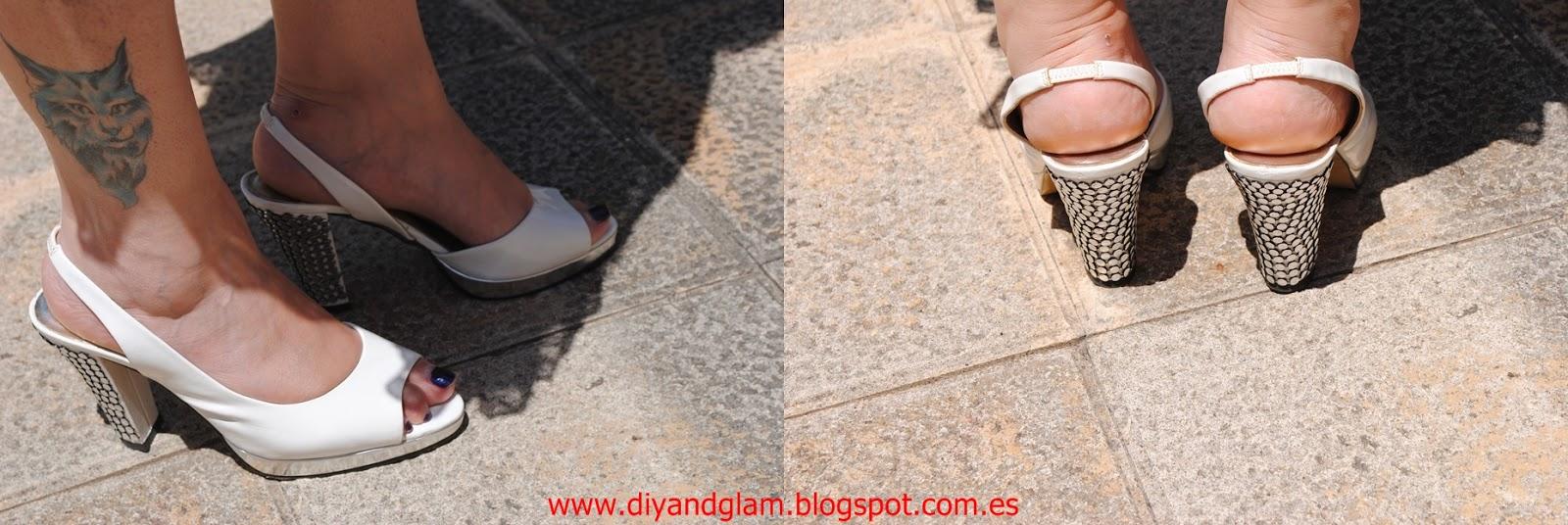 Diy sandalias con tachuelas