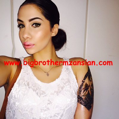 BBMzansi Chelsea Humfrey gets New Tattoo