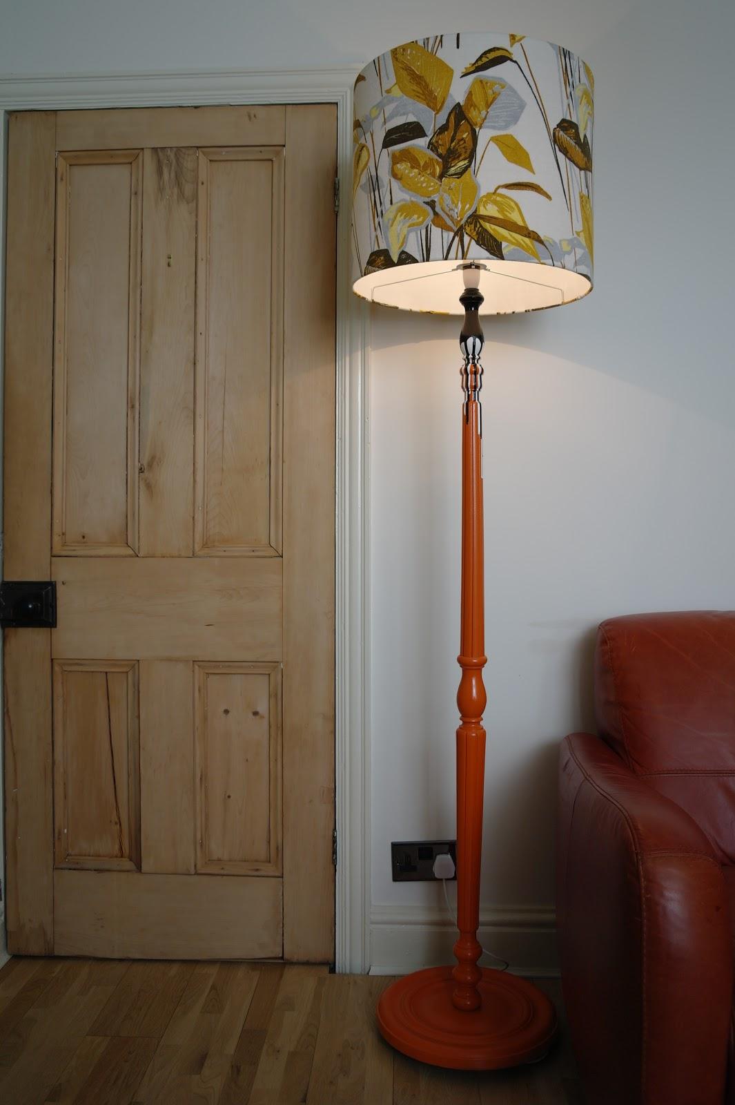 Retro Standard Lamps Orange Retro Standard Lamp With