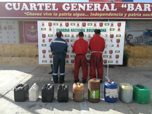 Meten presos a trabajadores del CRP Cardón en Falcón por robarse 70 litros de lubricante
