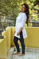 Kiran Chetwani in Denim and White Kurti  Exclusive 023.JPG