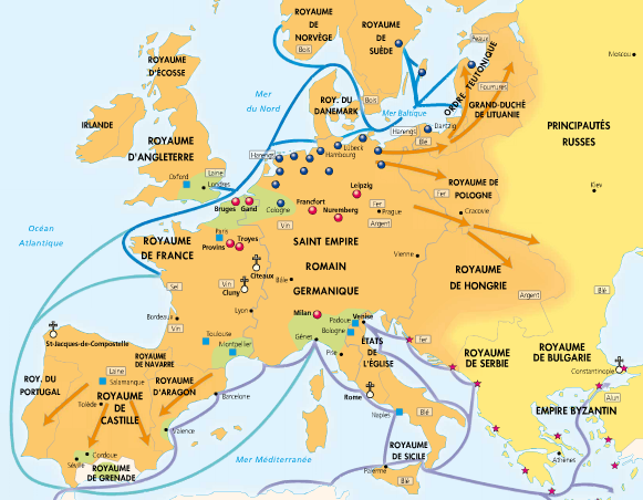 Carte Europe Xiieme Siecle.L Europe Au Xiiie Siecle Histoire Geographie De St Denis