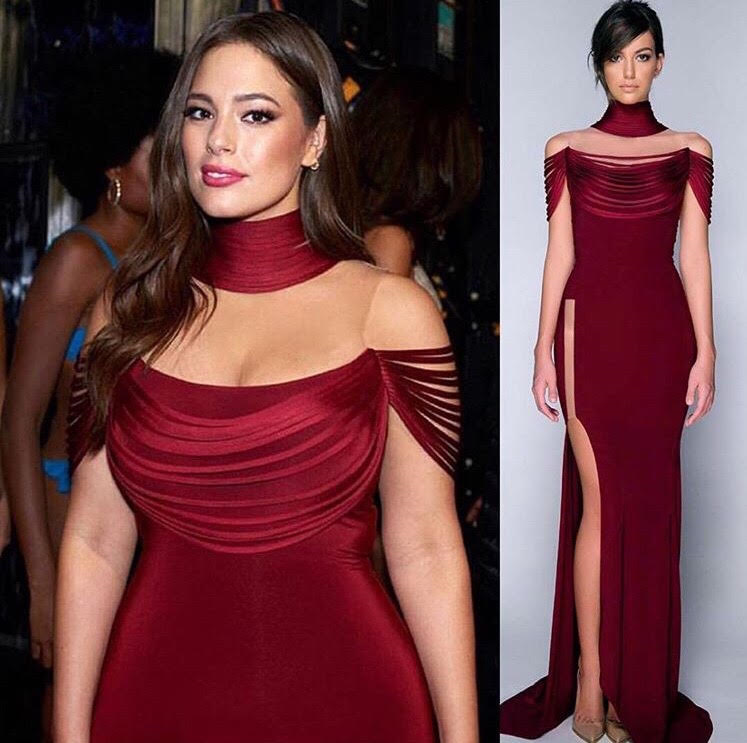 Ashley Graham Looked Sizzling Hot Showing Off Her Famous Curves In A Red Hamel Dress As She Hosted The Miss Universe 2017 Contest Las Vegas This Week