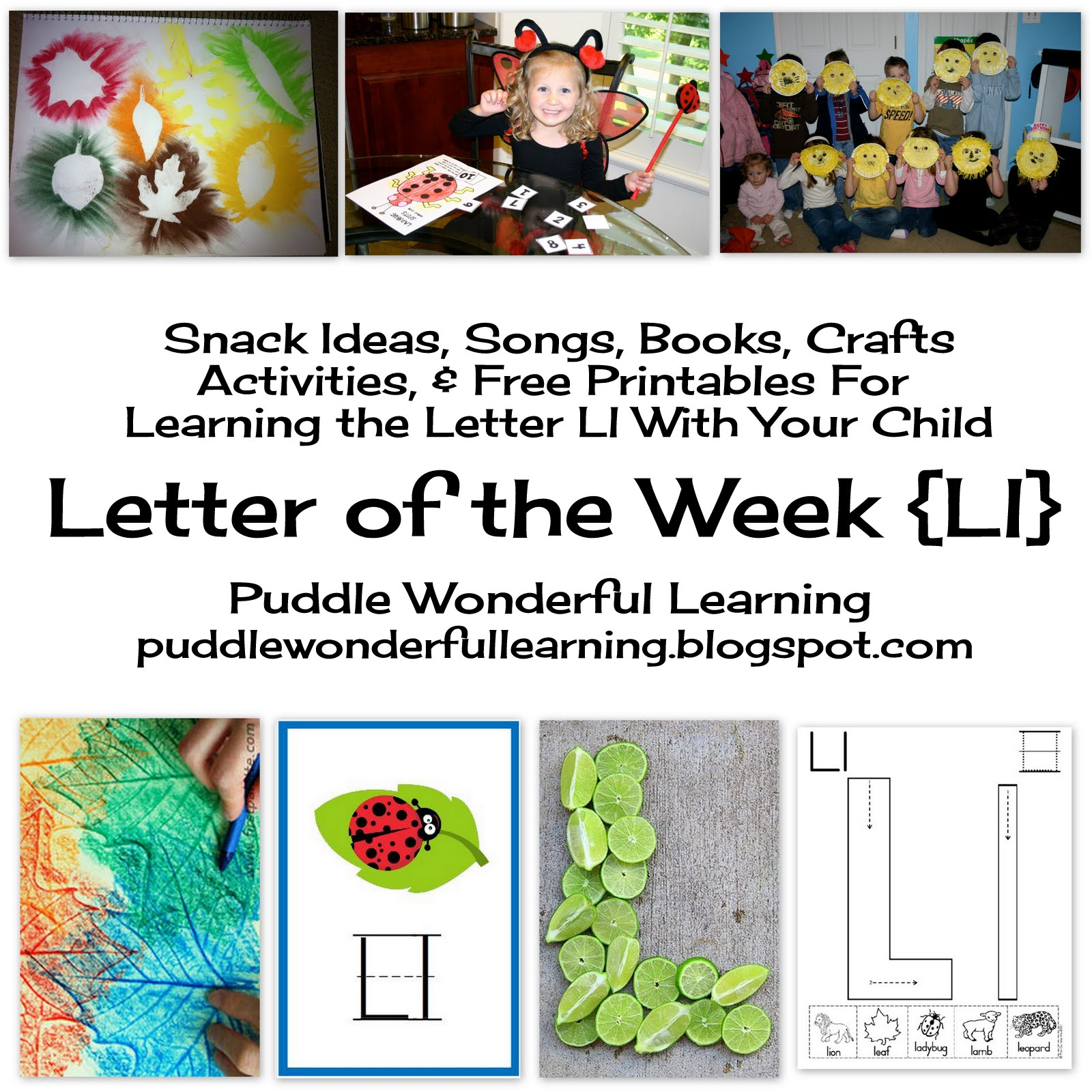 Puddle Wonderful Learning Preschool Activities Letter Of The Week Ll