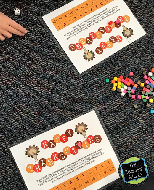 Thanksgiving math game