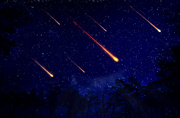 The Meteor is going to rain on April 22?