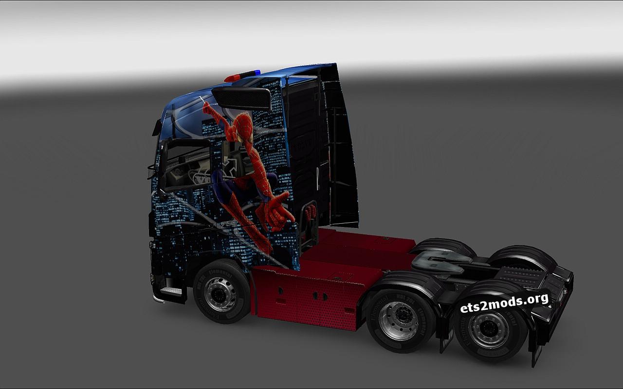 Spiderman Skin for Volvo 2013