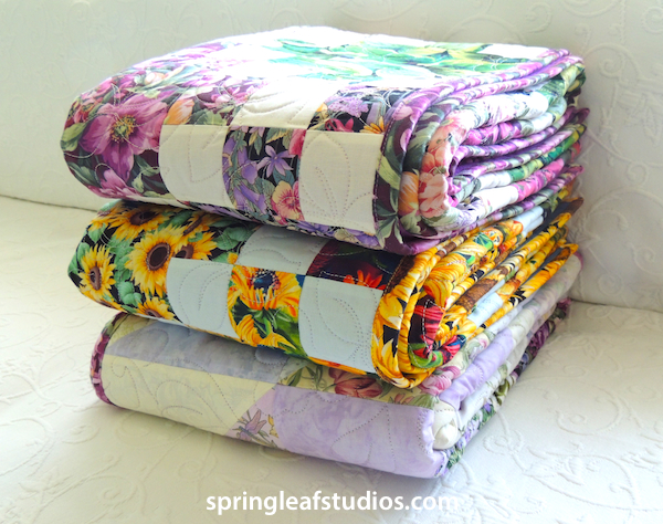 floral quilts by Springleaf Studios