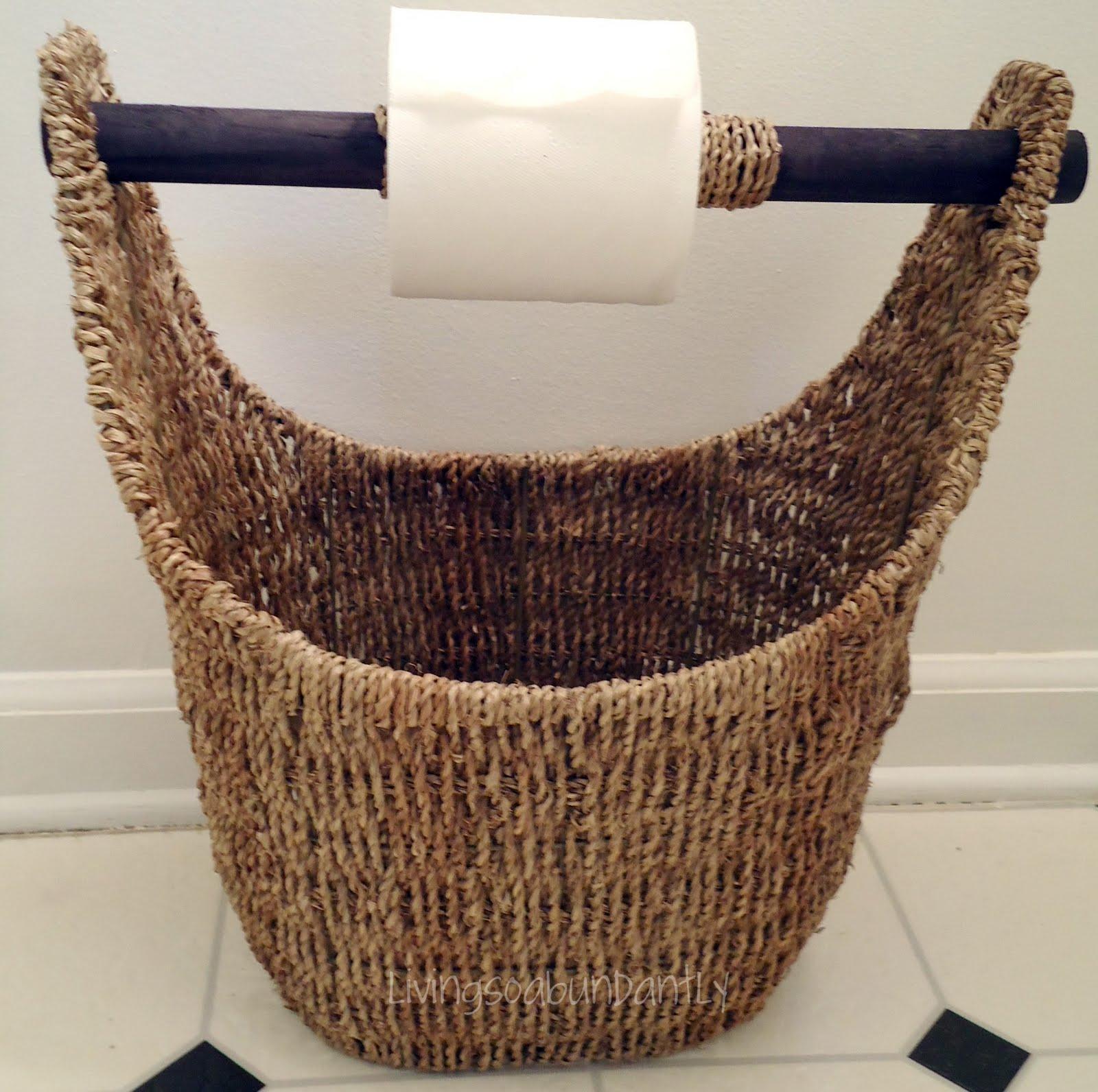 toilet paper back up basket living so abundantly. Black Bedroom Furniture Sets. Home Design Ideas