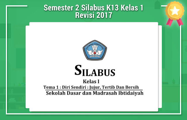 Semester 2 Silabus K13 Kelas 1 Revisi 2017