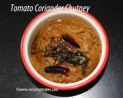 Tomato Green Chilies Chutney