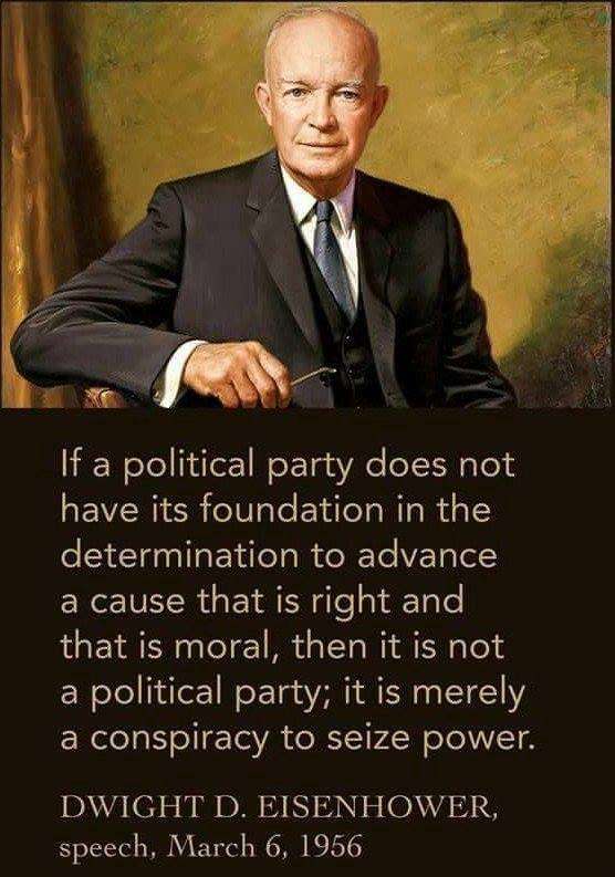 Eisenhower on Party Legitimacy