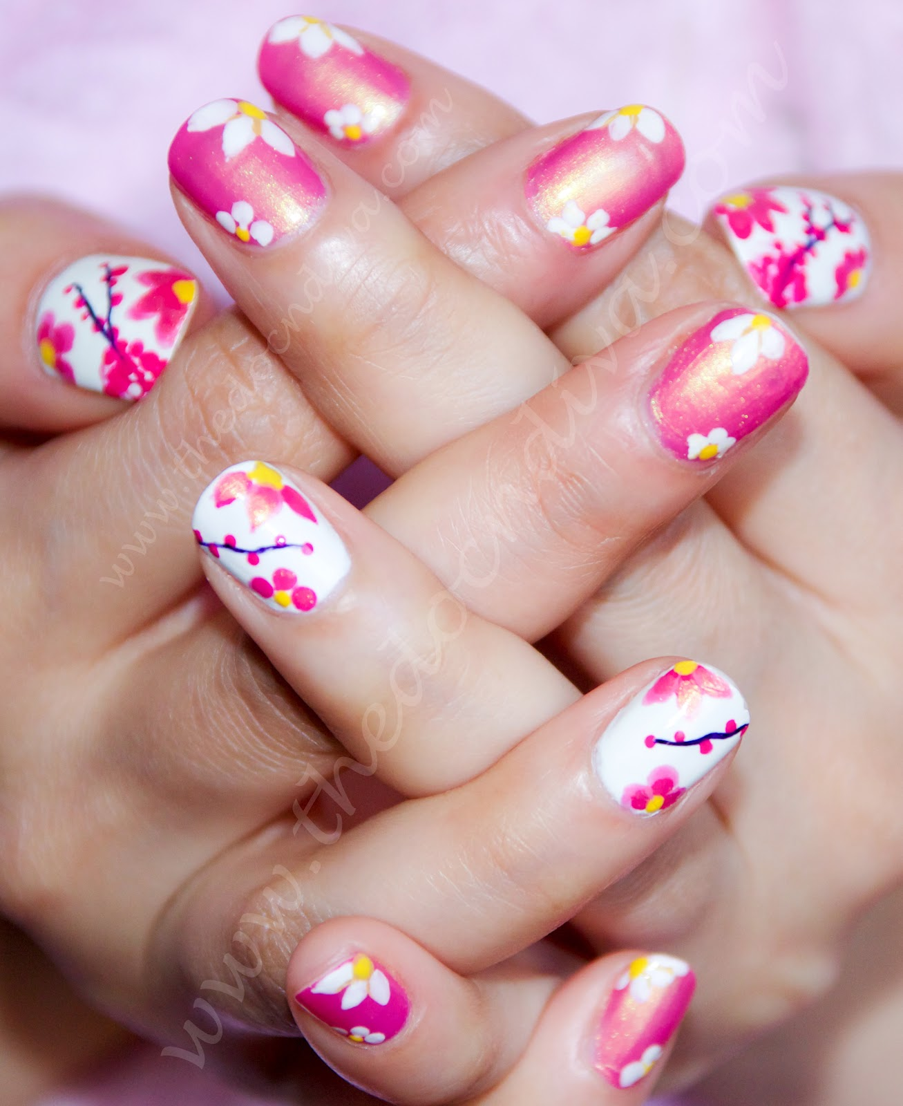 Nail Art Simple Step By Step: Spring Inspired Nail-art: A Step By Step Tutorial