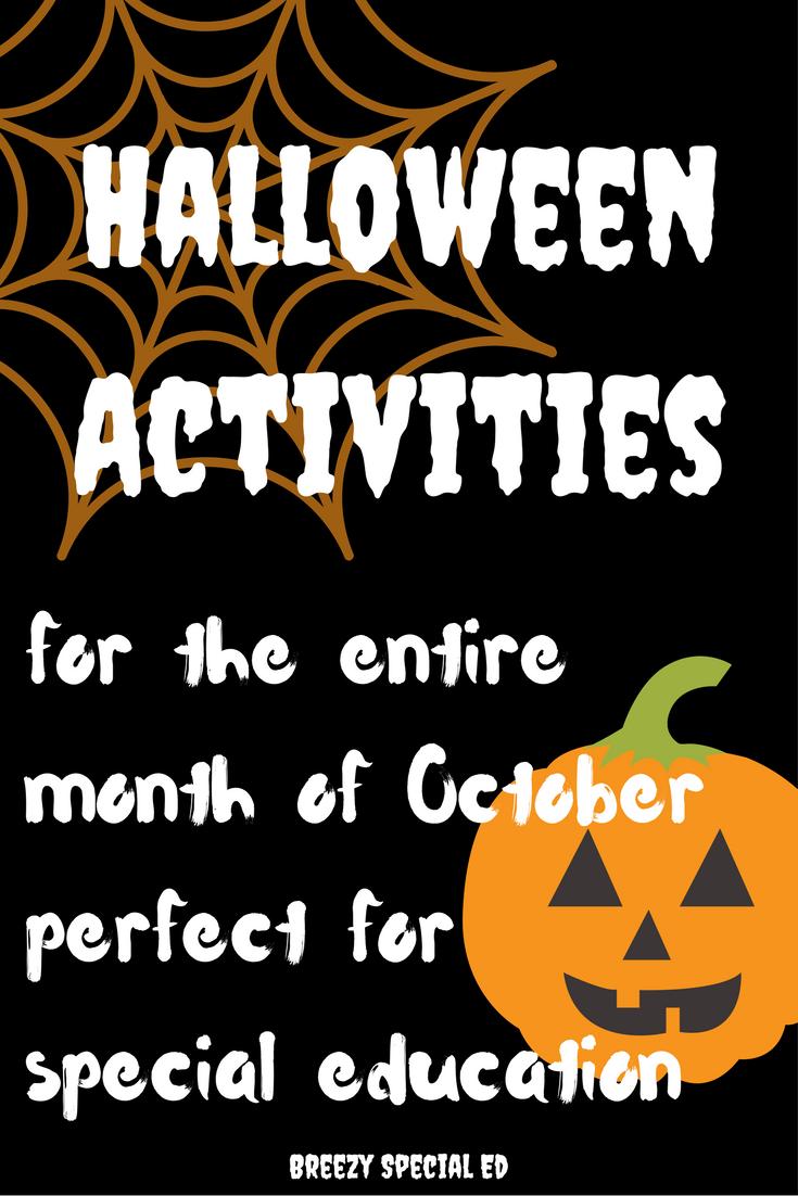 Halloween Academic Activities for Special Education - Breezy ...