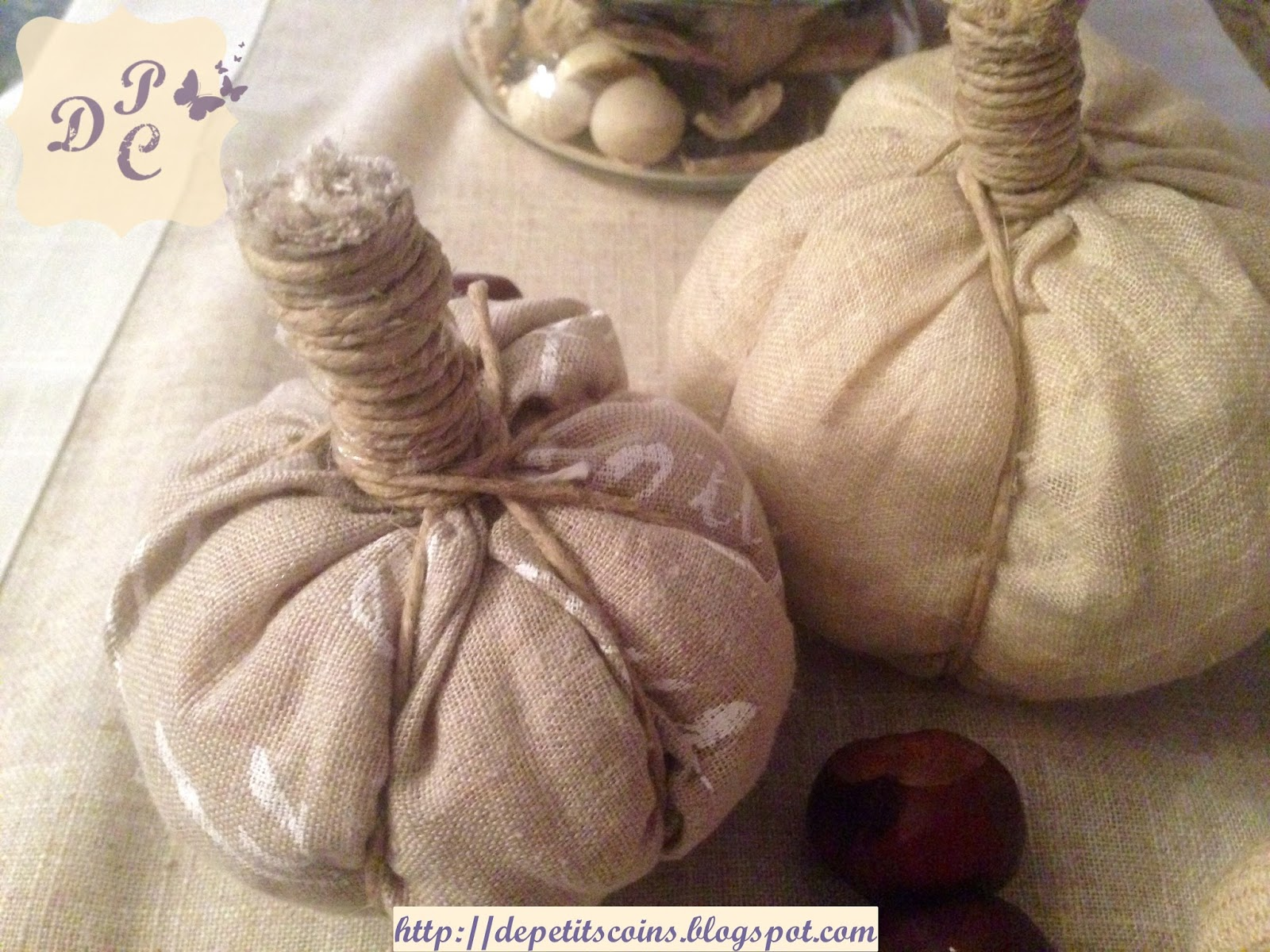 shabby fabric pumpkinS
