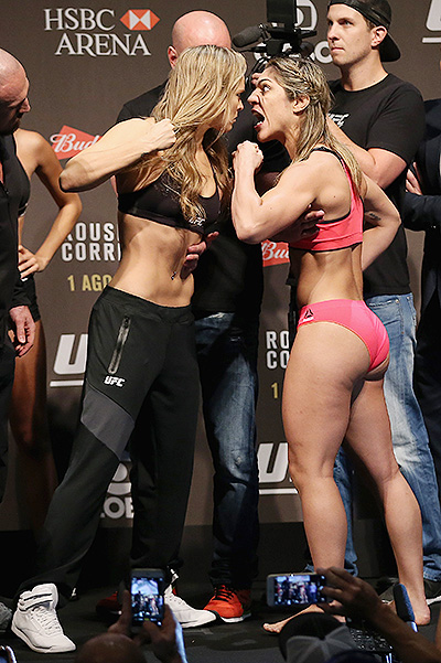 Ronda Rousey defeated Beth Correia for 34 seconds