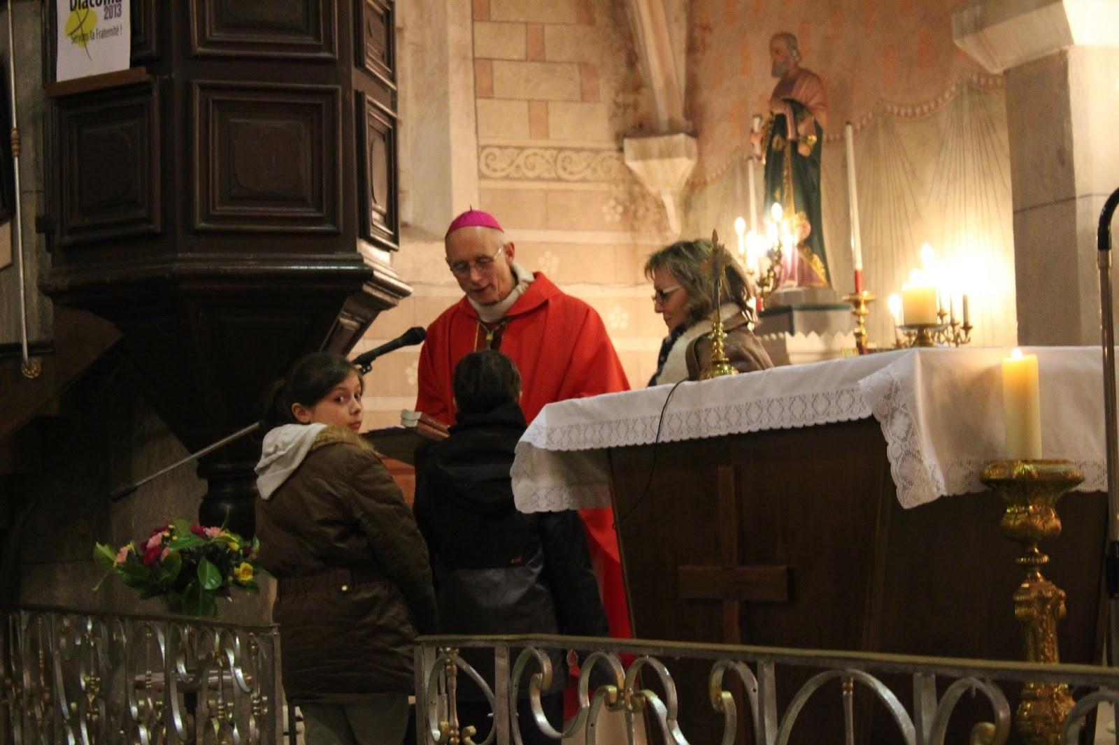 Etape de baptême pour Marius et Anna