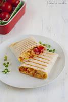 Burrito z jajecznicą z warzywami
