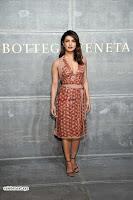 Priyanka Chopra is all brown in a deep neck beautiful dress at Bottega Veneta Show during NYFW ~  Exclusive 005.jpg