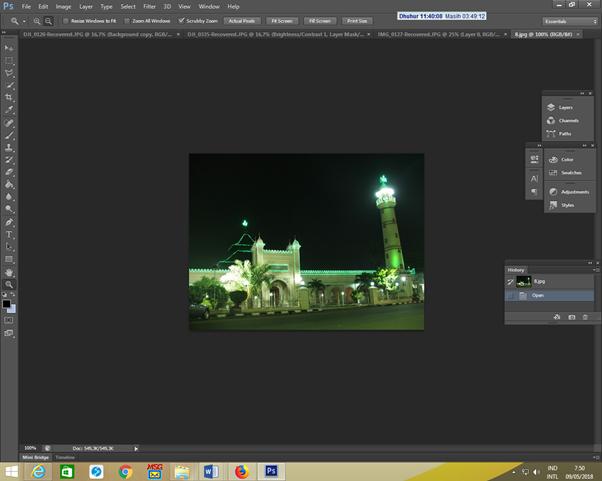 Tutorial Photoshop : Menggabungkan dua gambar bertema Ramadhan