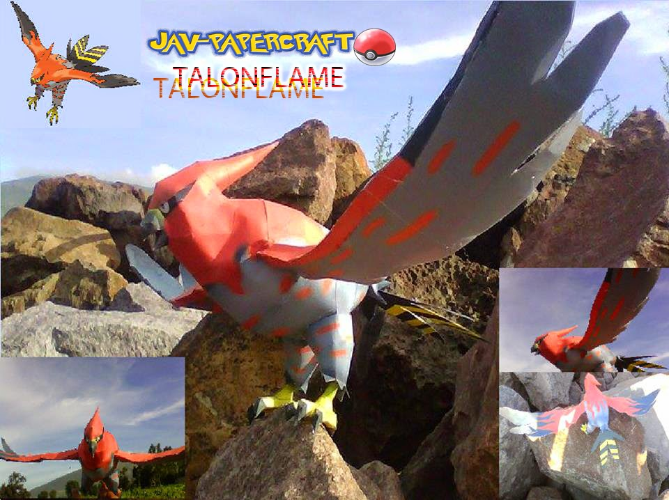 Pokemon Talonflame Papercraft