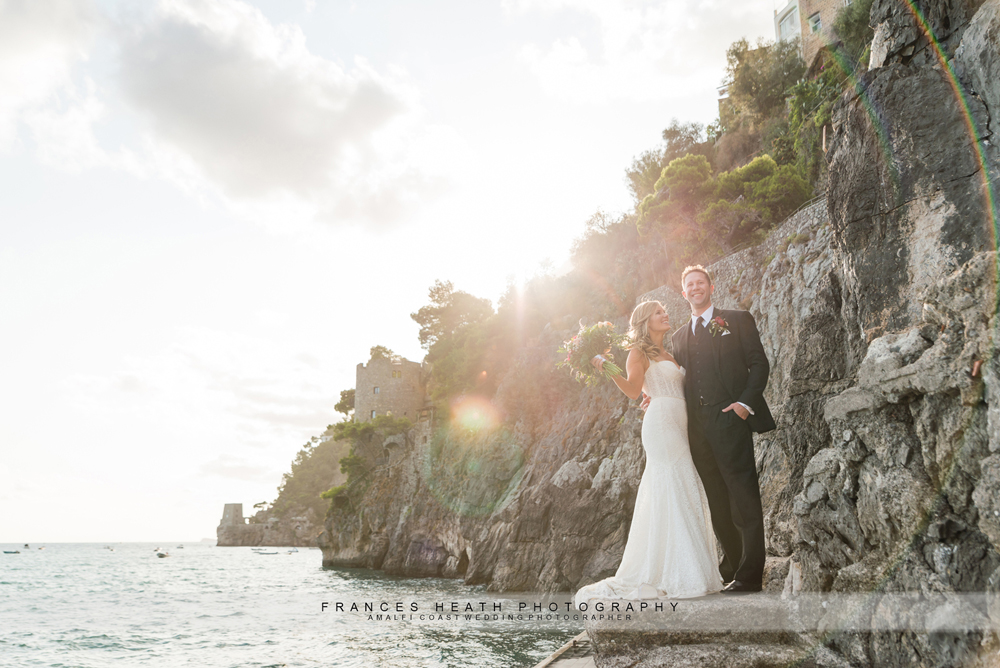 Sunset Positano elopement