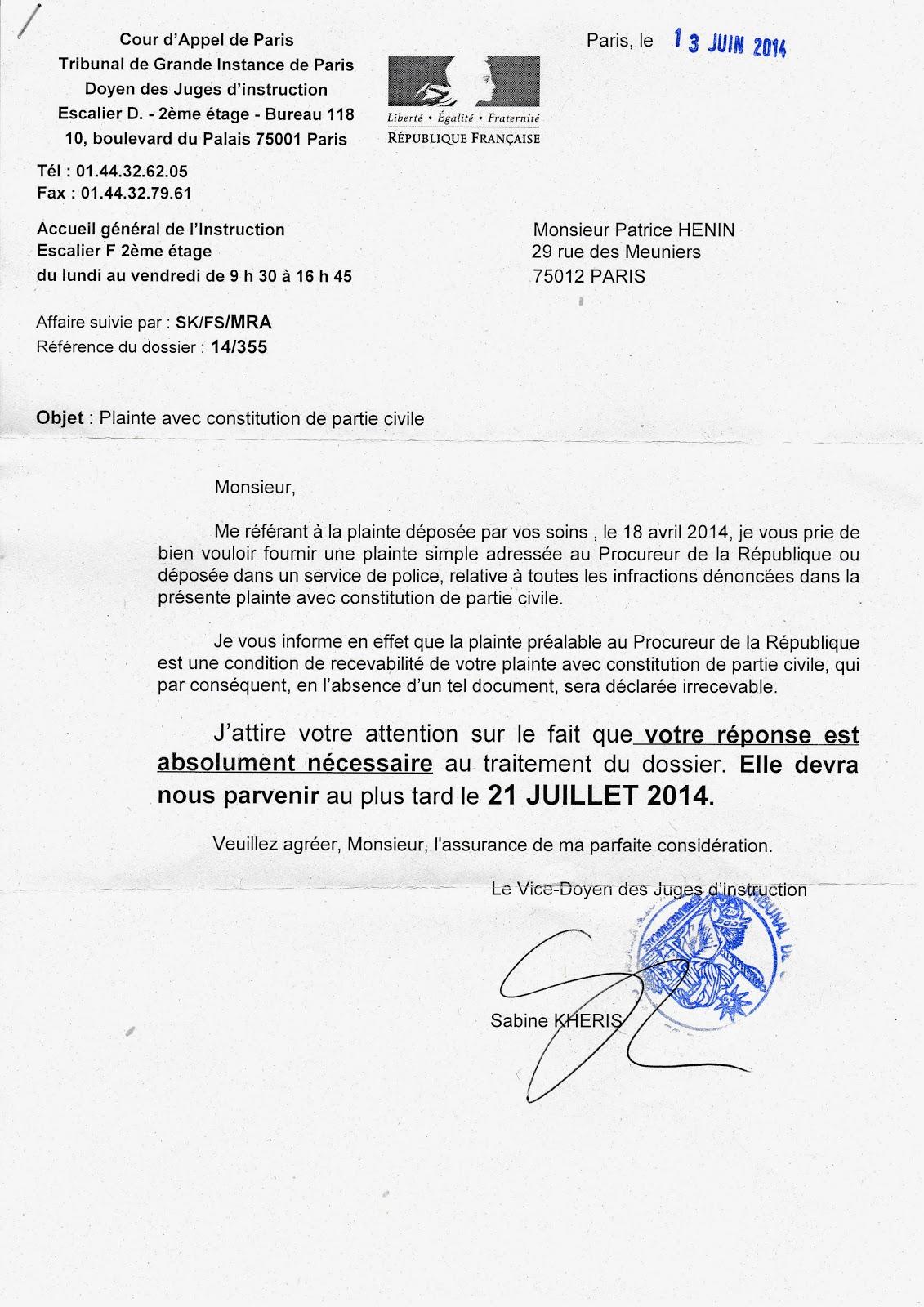 Depot de plainte en francais la prefecture de police - Bureau des permis de conduire de la prefecture de police ...