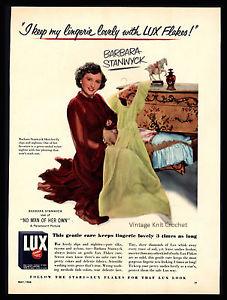 Vintage Lux 1951 Advertisement
