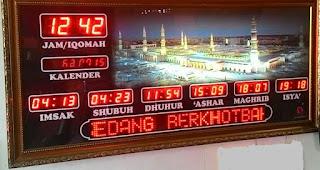 Jadwal Sholat Digital Masjid Maluku Utara