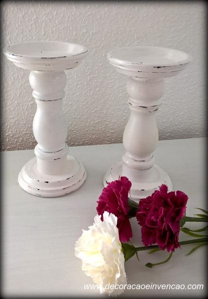 1 Projeto por mês -  Porta velas pedestal - DIY