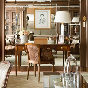 Masculine furnishings in renovated Ritz Paris suite